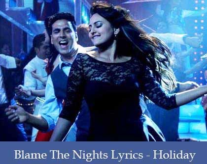 Blame The Night Lyrics