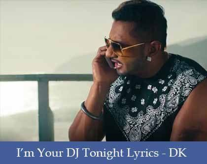 I'm Your DJ Tonight Lyrics