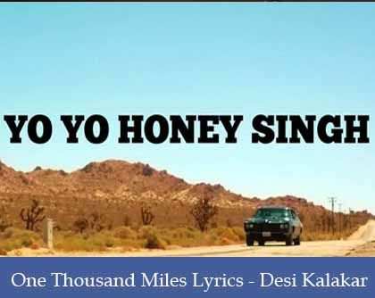 One Thousand Miles Lyrics