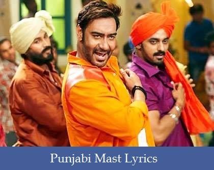 Punjabi Mast Lyrics