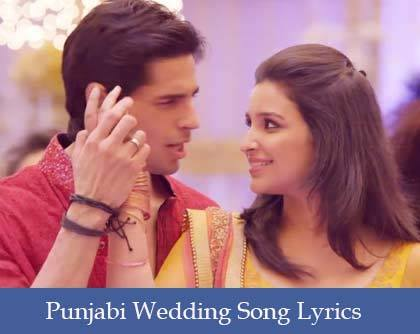 Punjabi Wedding Song Lyrics