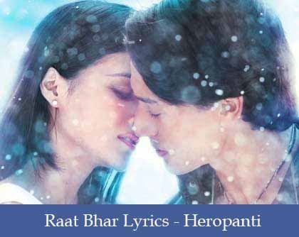 Raat Bhar Lyrics