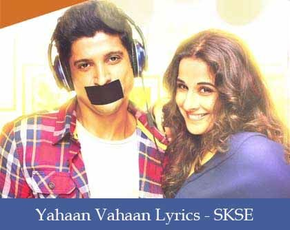 Yahaan Vahaan Lyrics