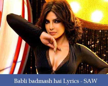 Babli Badmaash Hai Lyrics