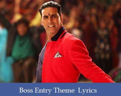 Boss Entry Theme Lyrics