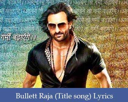 Bullett Raja Lyrics
