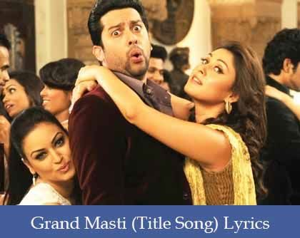 Grand Masti Title Song Lyrics