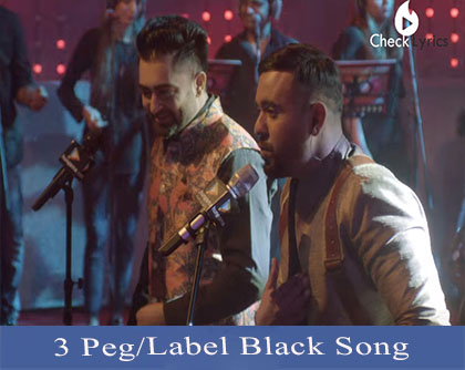 3 Peg/Label Black Lyrics | Sharry Mann | Gupz Sehra