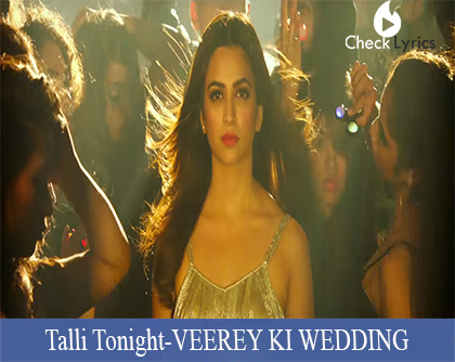Talli Tonight Lyrics