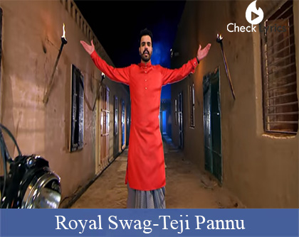 Royal Swag Lyrics | Teji Pannu | Mr. Vgrooves