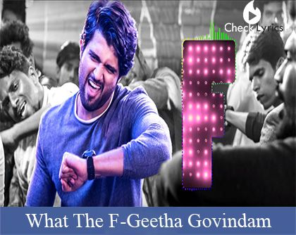 What the F Song Lyrics | Vijay Devarakonda