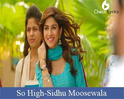 So High Lyrics | Sidhu Moosewala