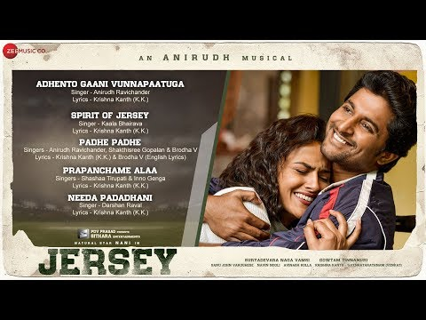 Needa Padadhani Song Lyrics - Jersey